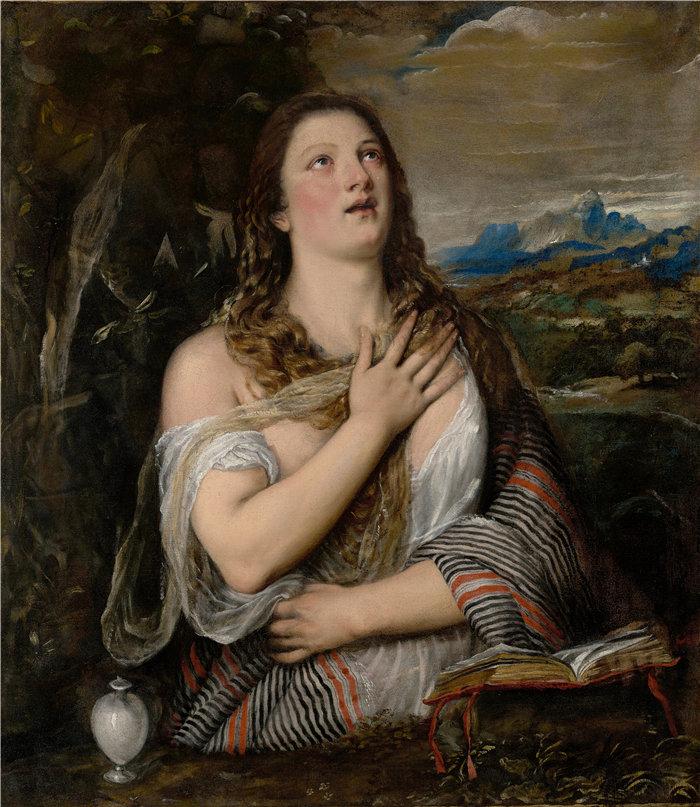 提香(Titian,意大利画家)作品--忏悔者抹大拉 (1555–1565)
