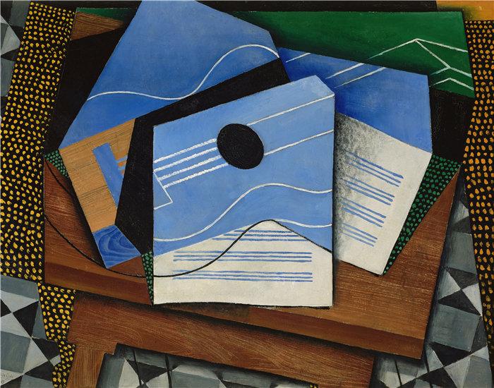 胡安·格里斯(Juan Gris,西班牙画家)作品--桌子上的吉他(1915