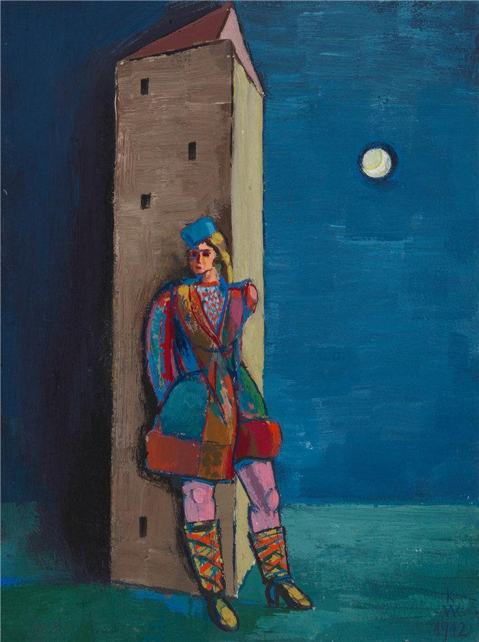 卡尔·维纳(Karl Wiener,奥地利画家 )作品-克里格维特 (1942)