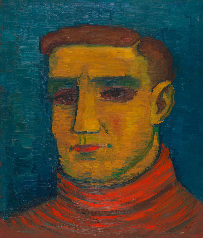 卡尔·维纳(Karl Wiener,奥地利画家 )作品-男性肖像(约 1932 年)(1)