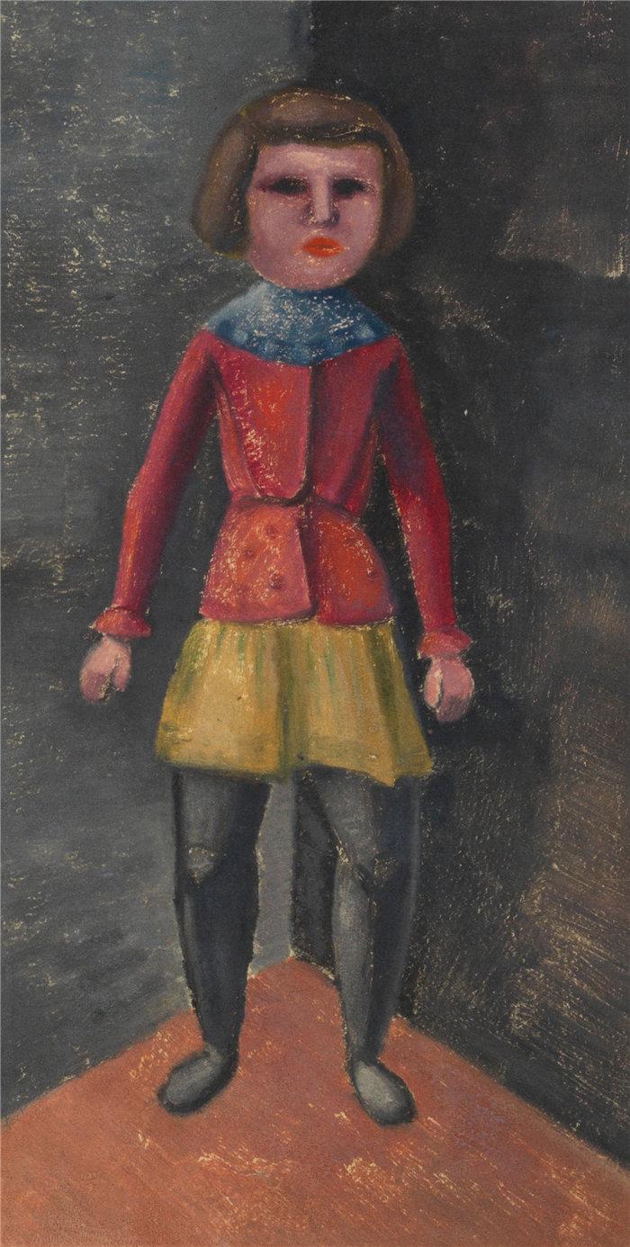 卡尔·维纳(Karl Wiener,奥地利画家 )作品-达斯金德(约 1930 年)