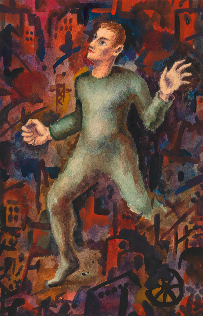 卡尔·维纳(Karl Wiener,奥地利画家 )作品-探索者(约 1928 年)