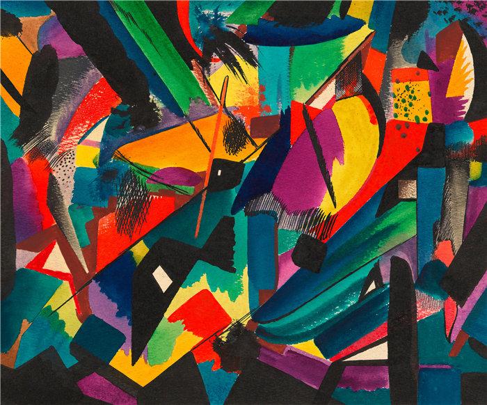 卡尔·维纳(Karl Wiener,奥地利画家 )作品-失调 (约 1927 年)