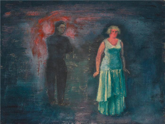 卡尔·维纳(Karl Wiener,奥地利画家 )作品-开始(约 1930 年)