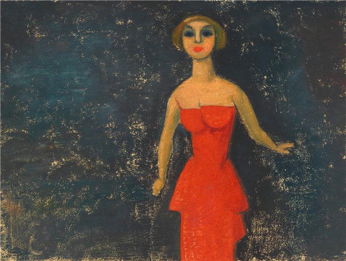 卡尔·维纳(Karl Wiener,奥地利画家 )作品-贝斯。Halbwelt(约 1935 年)