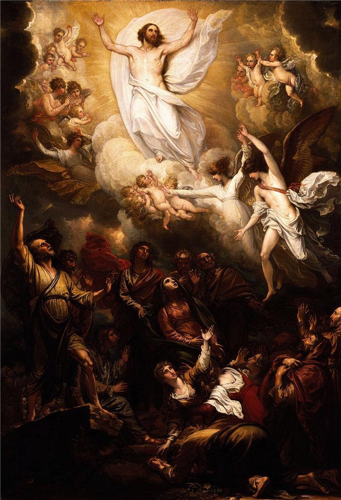本杰明·韦斯特 (Benjamin West,美国画家)作品--升天 (1801)