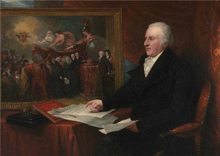 本杰明·韦斯特 (Benjamin West,美国画家)作品--约翰·厄德利·威尔莫特 (1812)