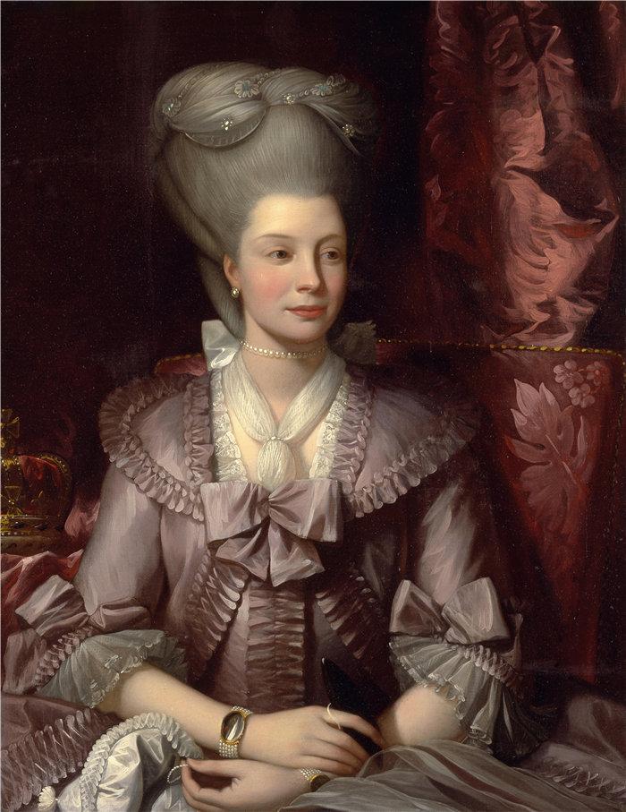 本杰明·韦斯特 (Benjamin West,美国画家)作品--夏洛特王后 (1777)