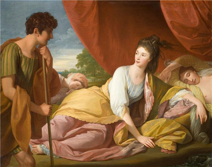 本杰明·韦斯特 (Benjamin West,美国画家)作品--赛蒙和伊菲革涅亚 (1773)