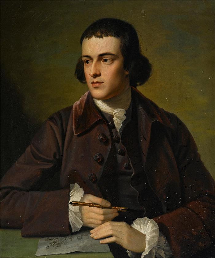 本杰明·韦斯特 (Benjamin West,美国画家)作品--约翰·格雷的肖像(1766 年)