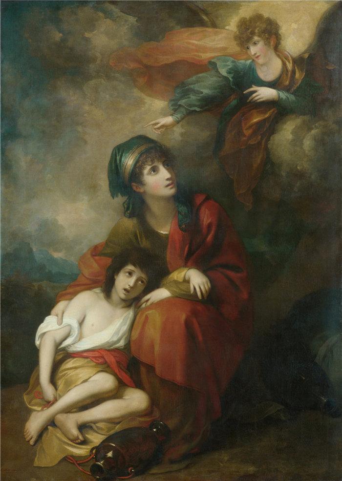本杰明·韦斯特 (Benjamin West,美国画家)作品--夏甲和以实玛利 (1776)