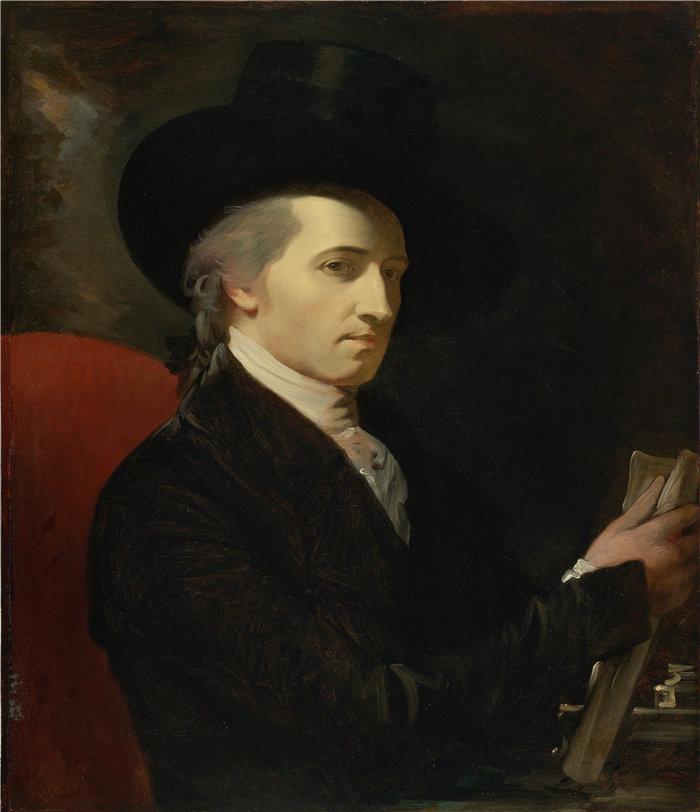 本杰明·韦斯特 (Benjamin West,美国画家)作品--艺术家自画像