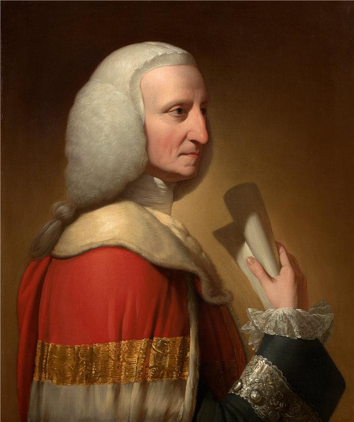本杰明·韦斯特 (Benjamin West,美国画家)作品--乔治的肖像,第一任利特尔顿勋爵(约 1772 年)