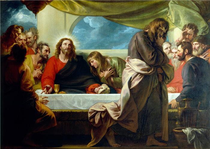 本杰明·韦斯特 (Benjamin West,美国画家)作品--最后的晚餐 (1786)