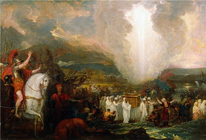 本杰明·韦斯特 (Benjamin West,美国画家)作品--约书亚带着约柜经过约旦河 (1800)