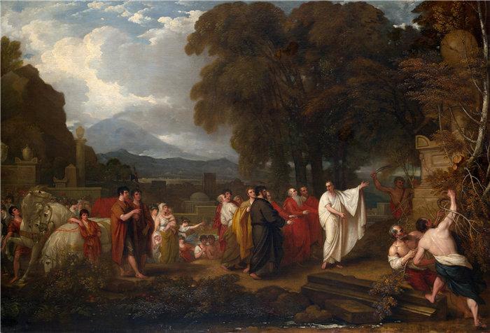 本杰明·韦斯特 (Benjamin West,美国画家)作品--西塞罗发现阿基米德墓(1804 年)