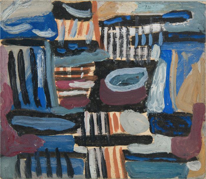 亚历山大·萨萨·布朗德 (Aleksander Sasza Blonder,波兰画家)作品-摘要作文II(1934)