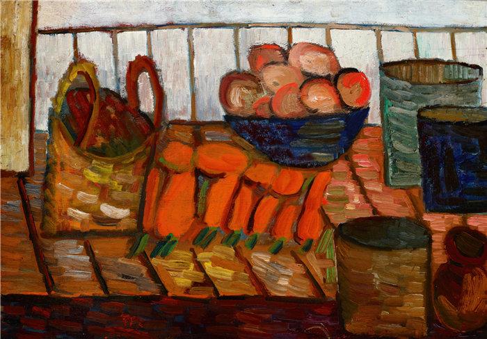 亚历山大·萨萨·布朗德 (Aleksander Sasza Blonder,波兰画家)作品-静物 (1935-1937)