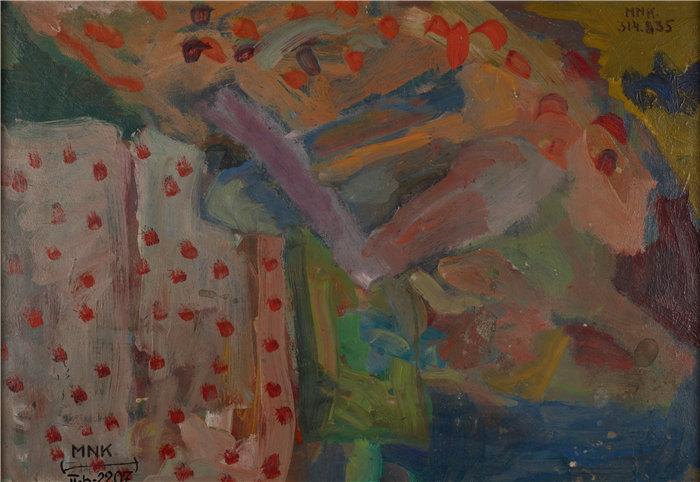 亚历山大·萨萨·布朗德 (Aleksander Sasza Blonder,波兰画家)作品-裸 体作品 (1937)