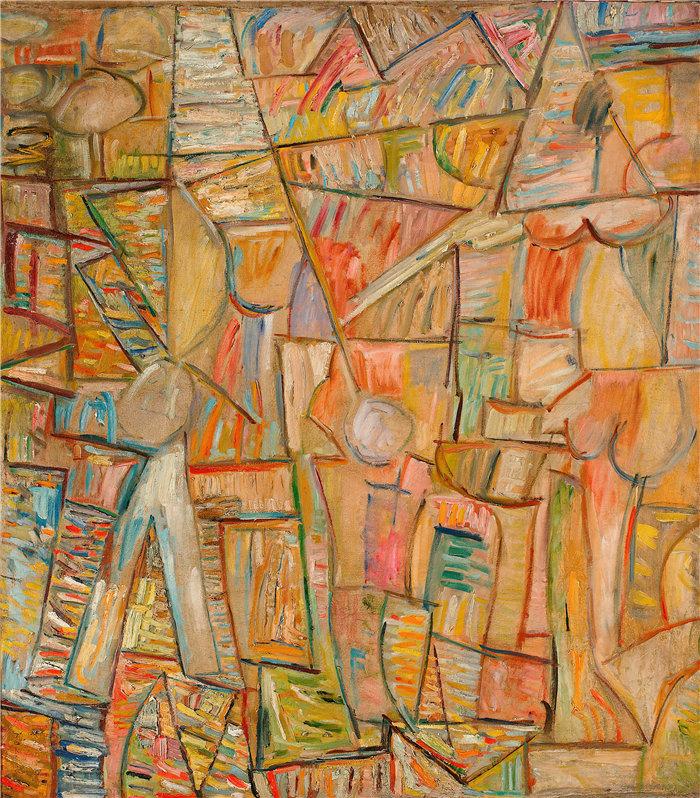 亚历山大·萨萨·布朗德 (Aleksander Sasza Blonder,波兰画家)作品-作曲 (1937)