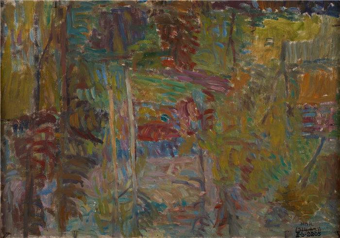 亚历山大·萨萨·布朗德 (Aleksander Sasza Blonder,波兰画家)作品-森林之路 (1937)