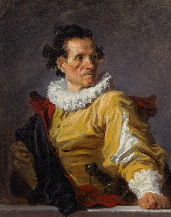 让·奥诺雷·弗拉戈纳尔(Jean Honoré Fragonard,法国画家)作品 –战士(约 1770 年)
