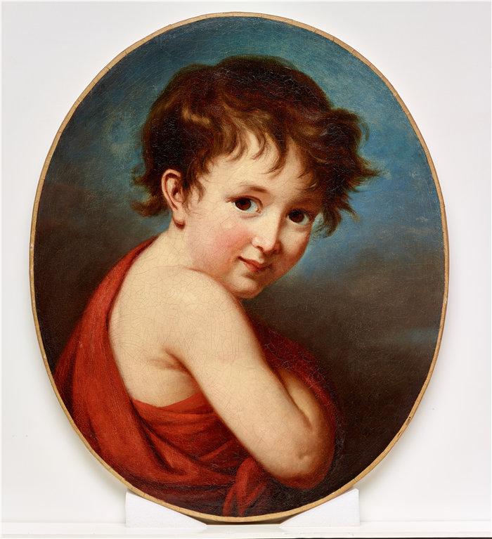 伊莉莎白·维杰·勒布伦(Louise Élisabeth Vigée Le Brun,法国画家 )作品--米歇尔的肖像(1802)