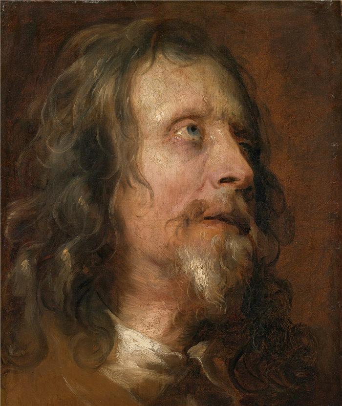 安东尼·范·戴克(Anthony van Dyck,比利时画家)作品-一个大胡子男人的肖像