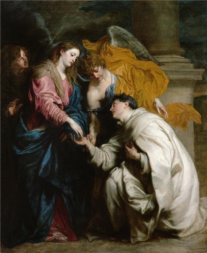 安东尼·范·戴克(Anthony van Dyck,比利时画家)作品-有福的赫尔曼·约瑟夫 (1629-1630) 的异象