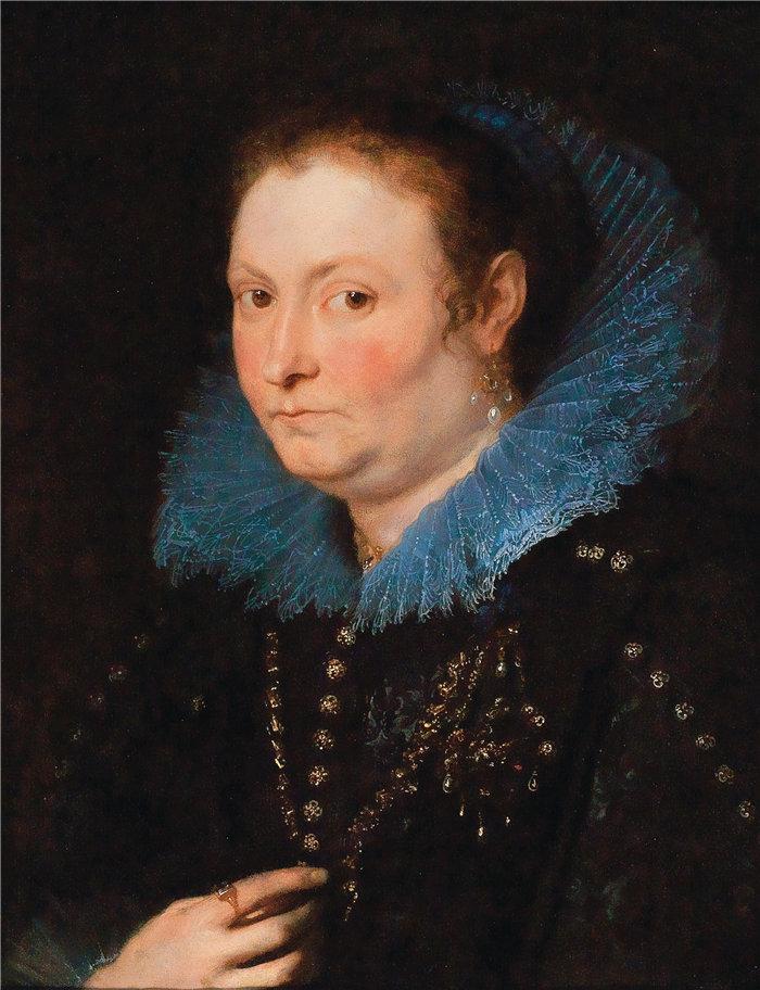 安东尼·范·戴克(Anthony van Dyck,比利时画家)作品-一位半身女士的肖像
