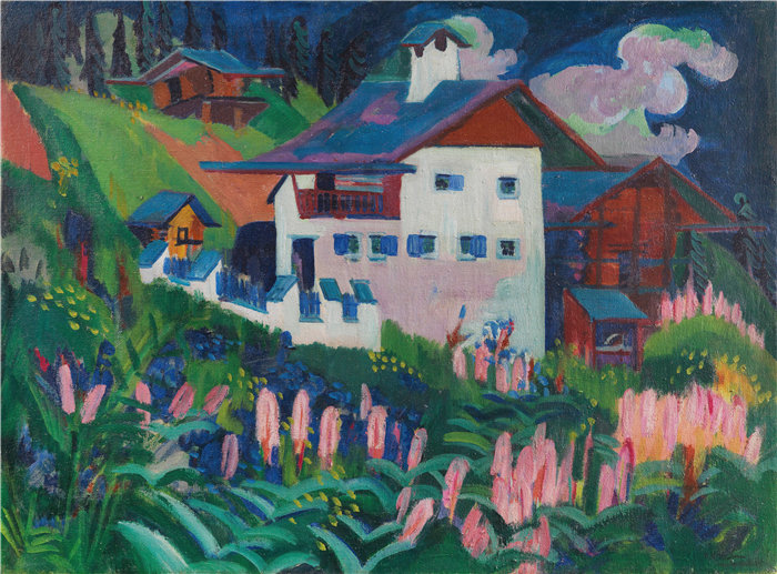 恩斯特·路德维希·基希纳(Ernst Ludwig Kirchner,德国画家)作品-我们的房子(1918-1922)