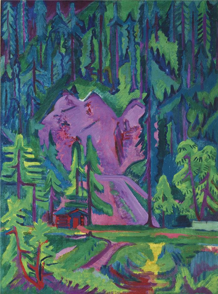 恩斯特·路德维希·基希纳(Ernst Ludwig Kirchner,德国画家)作品-威尔德博登采石场(1923年)