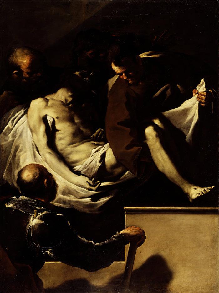 卢卡·佐丹奴 (Luca Giordano,意大利画家) 作品-基督的安葬(约 1659 年至 1660 年之间)