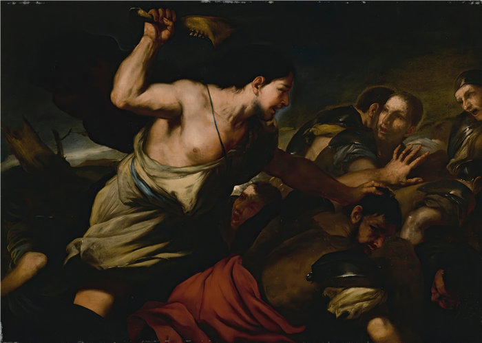 卢卡·佐丹奴 (Luca Giordano,意大利画家) 作品-参孙杀非利士人