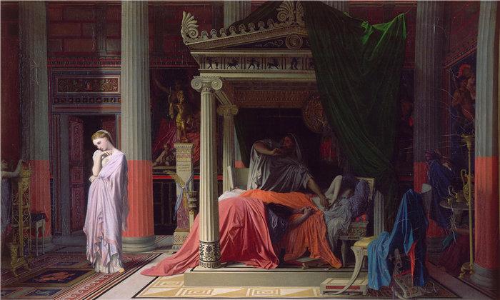 让·奥古斯特·多米尼克·安格尔(Jean Auguste Dominique Ingres,法国画家)-安条克和斯特拉托尼斯