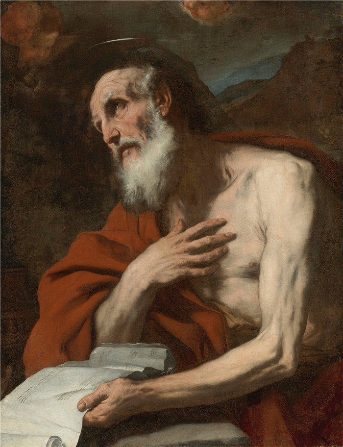 卢卡·佐丹奴 (Luca Giordano,意大利画家) 作品-圣杰罗姆