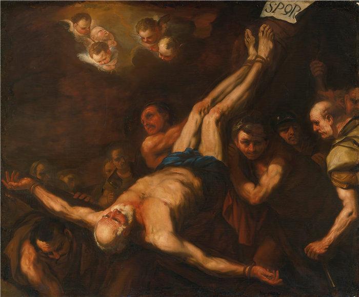 卢卡·佐丹奴 (Luca Giordano,意大利画家) 作品-圣彼得受难