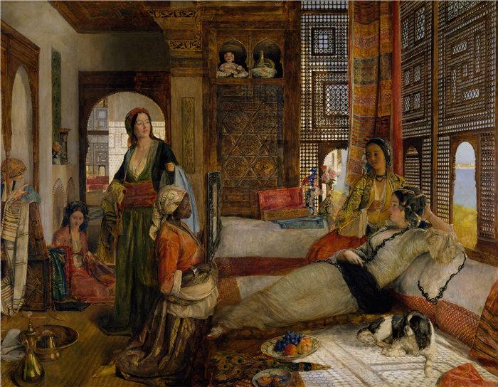 约翰·弗雷德里克·刘易斯(John Frederick Lewis英国画家)作品-后宫 (1876)
