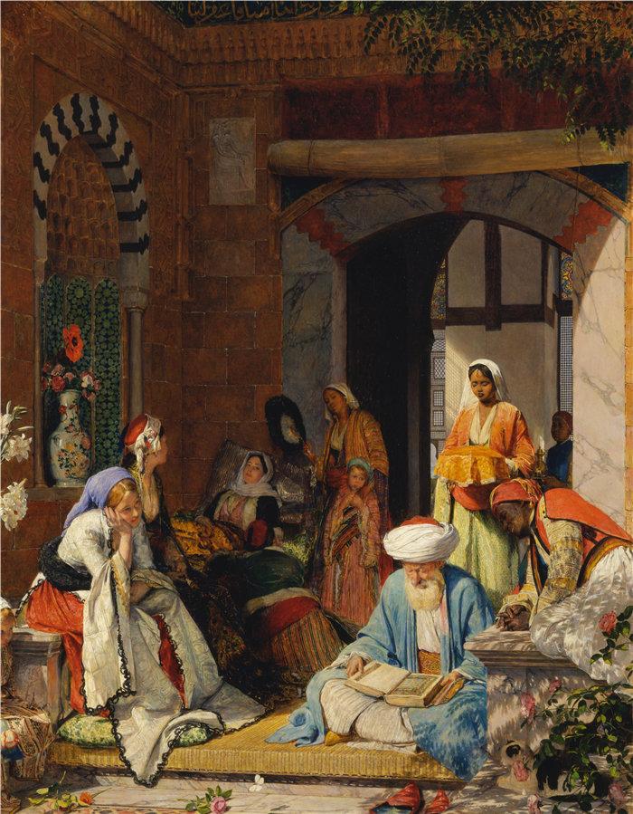 约翰·弗雷德里克·刘易斯(John Frederick Lewis英国画家)作品-信心的祈祷将拯救病人