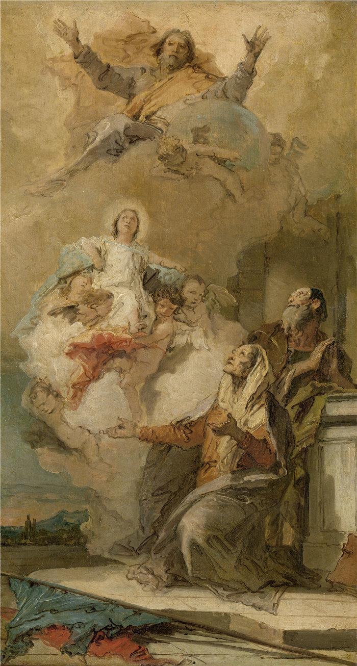 乔瓦尼·巴蒂斯塔·提埃波罗(Giovanni Battista Tiepolo,意大利画家)作品-圣母无原罪(1759)