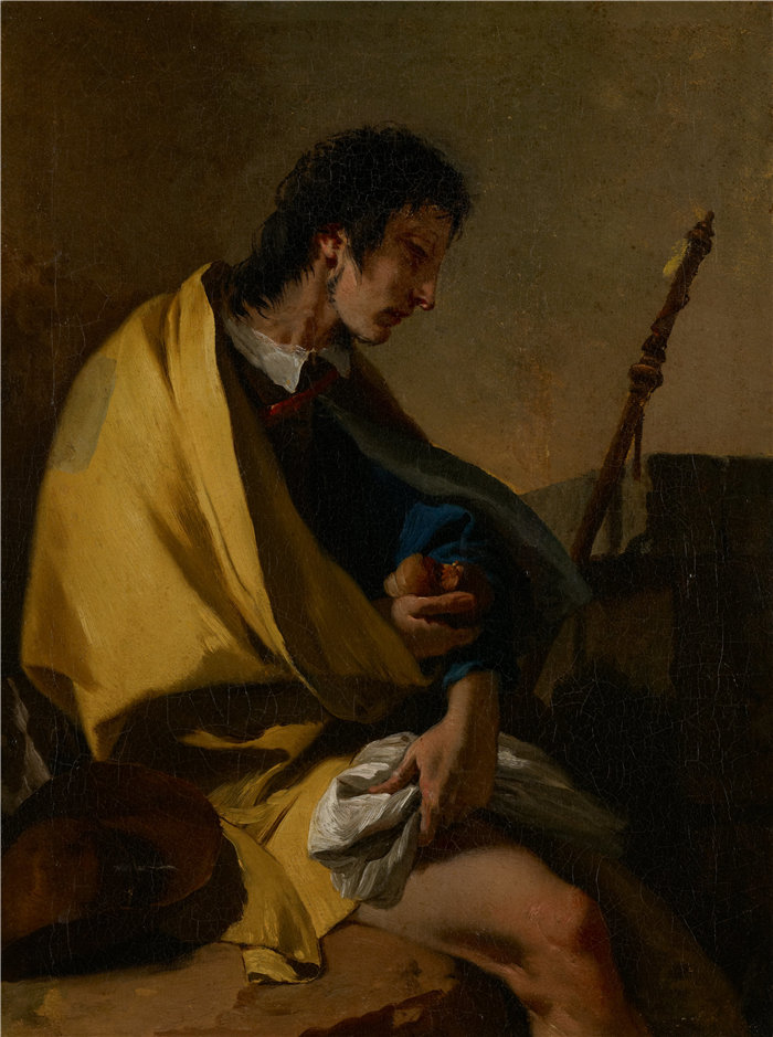 乔瓦尼·巴蒂斯塔·提埃波罗(Giovanni Battista Tiepolo,意大利画家)作品-圣罗克(约 1730–35 年)