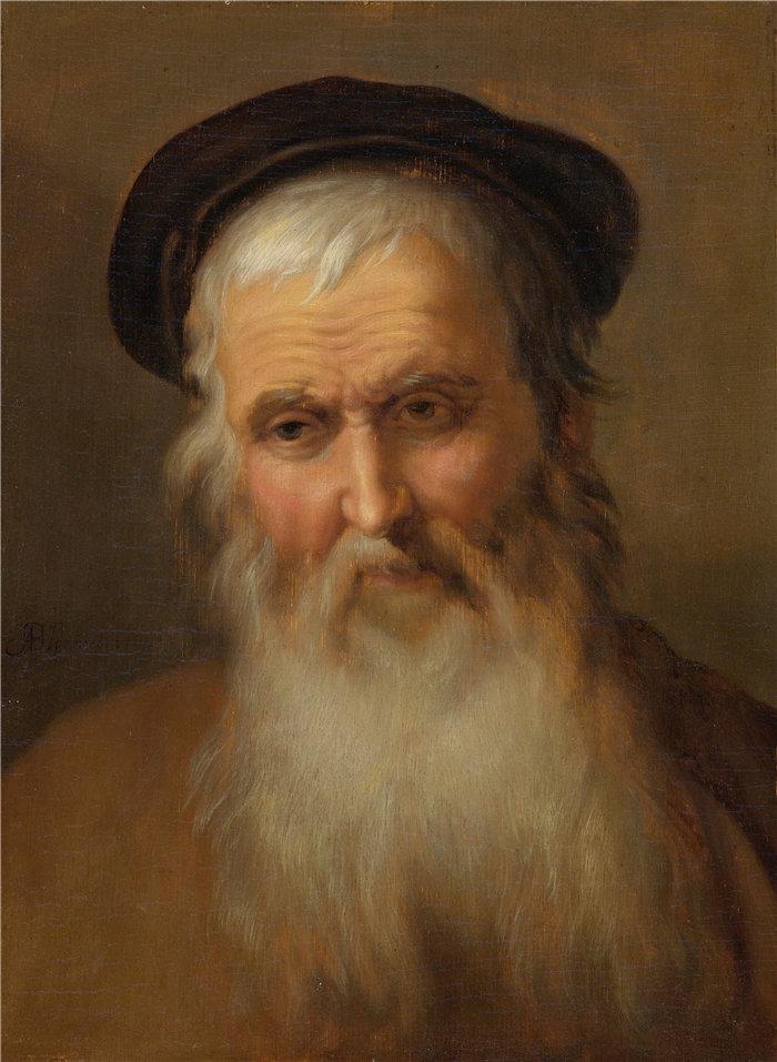 亚伯拉罕·布洛马特(Abraham Bloemaert,荷兰画家)作品-一位老人的肖像