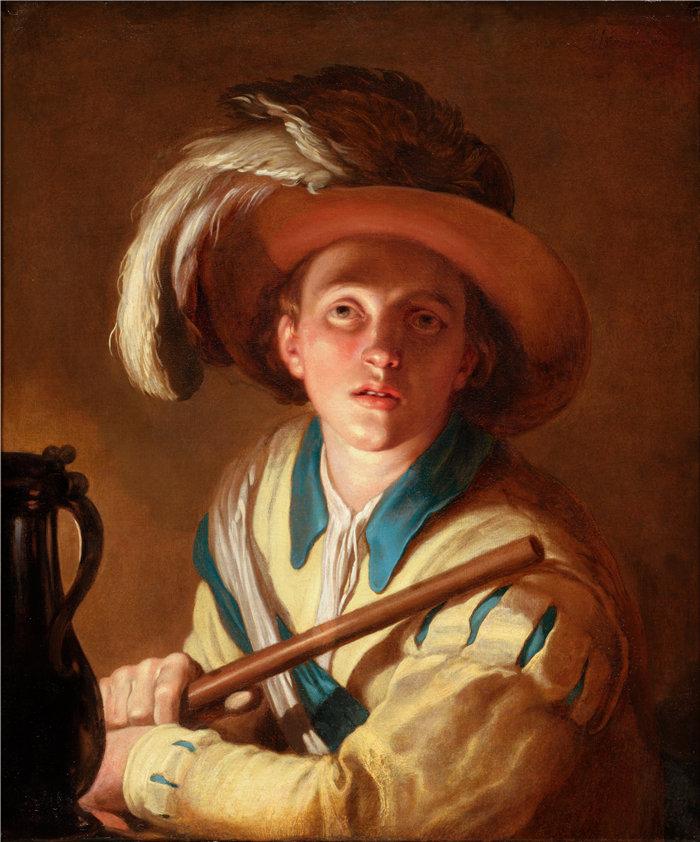 亚伯拉罕·布洛马特(Abraham Bloemaert,荷兰画家)作品-长笛演奏者 (1621)