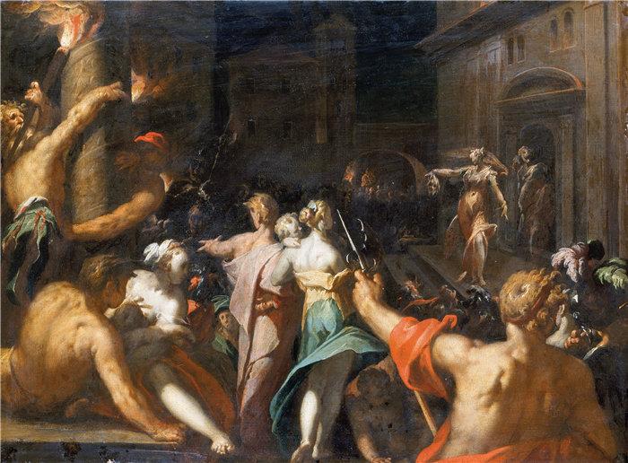 亚伯拉罕·布洛马特(Abraham Bloemaert,荷兰画家)作品-朱迪思展示赫罗斐尼的头像(约 1593 年)