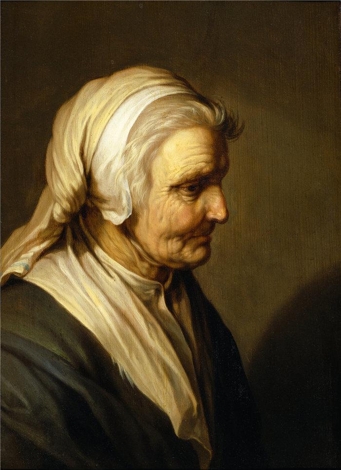 亚伯拉罕·布洛马特(Abraham Bloemaert,荷兰画家)作品-老妇人 (1635)