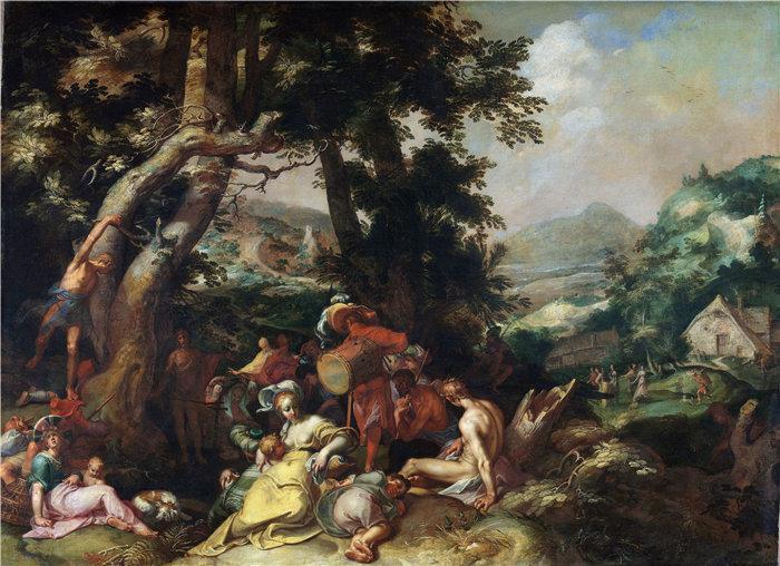 亚伯拉罕·布洛马特(Abraham Bloemaert,荷兰画家)作品-施洗者圣约翰的传道(1590 - 1610)