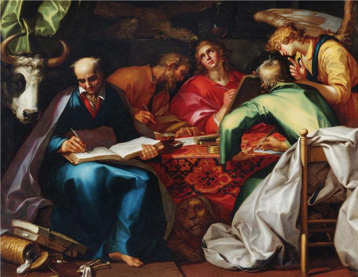 亚伯拉罕·布洛马特(Abraham Bloemaert,荷兰画家)作品-四位福音传道者 (1612 - 1615)
