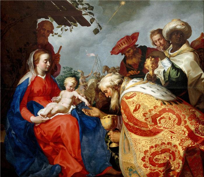 亚伯拉罕·布洛马特(Abraham Bloemaert,荷兰画家)作品-贤士的崇拜 (1624)