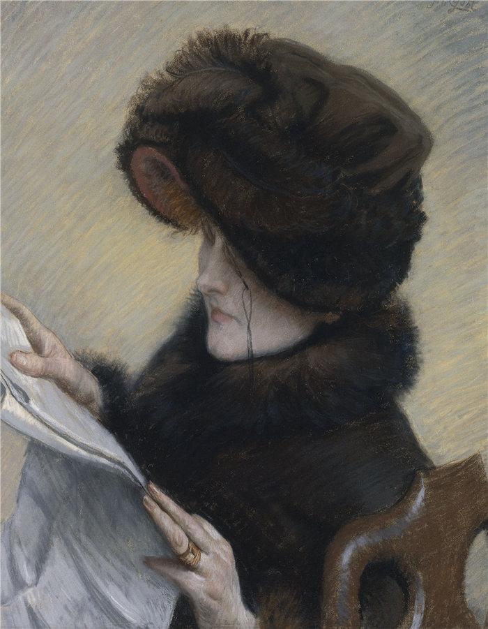 詹姆斯·天梭(James Tissot,法国画家)作品-阅读