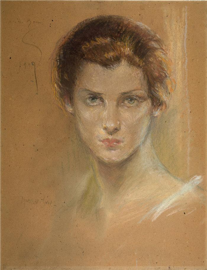 爱丽丝·派克·巴尼 (Alice Pike Barney,美国画家)作品-格洛丽亚 (1927)
